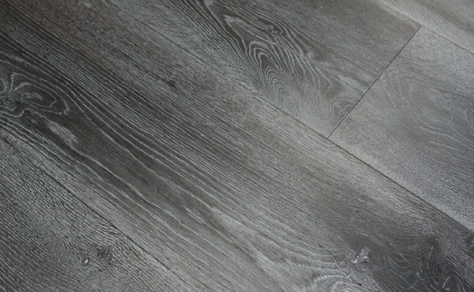 Home Black Gray Wire Brush Wire Brushed Hardwood Flooring AM02