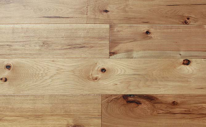 """Floating 7"""" Wide Plank Hickory Floor"""