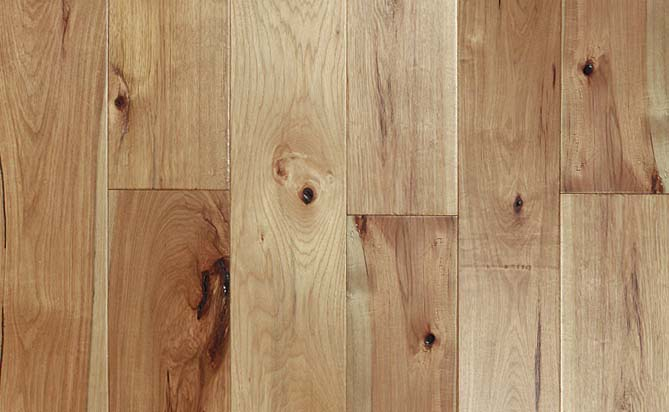 "High Quality 7"" Wide Plank Hickory Floor"