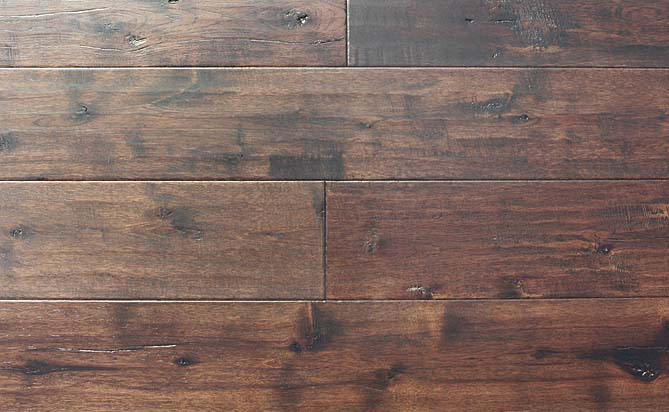 7 inch handscraped hickory flooring