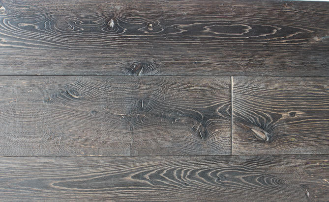 shrunken face feature wood flooring