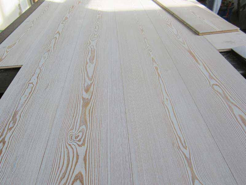 3 layer white oiled larch plank flooring