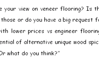 veneer floor question