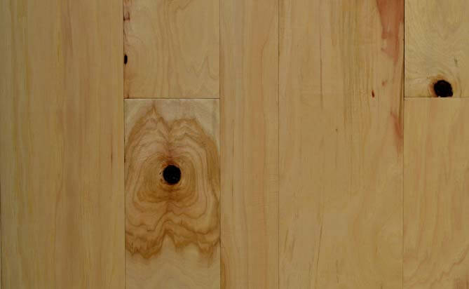 "3/4"" x 4"" Natural Solid Hickory Flooring"