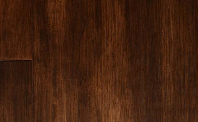 Brush solid hickory flooring