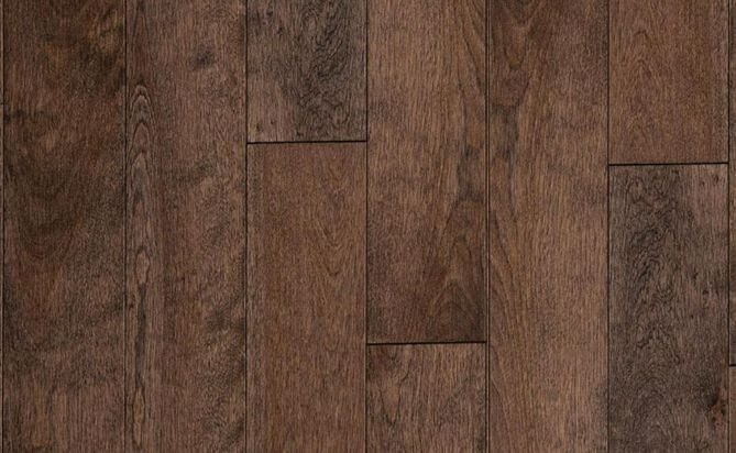 Stained solid birch floor