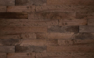 Stained solid birch wood floor