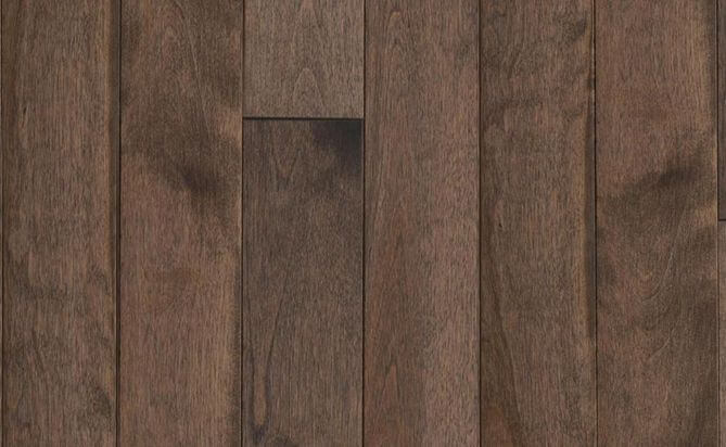 stained birch solid floor