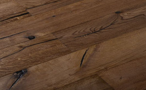 rustic wide plank flooring for cafe house