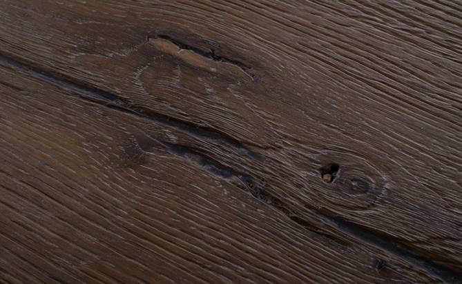 Artistic deep brushed engineered flooring