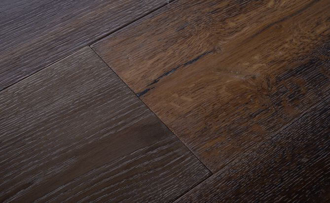 fired effect recycled wood flooring