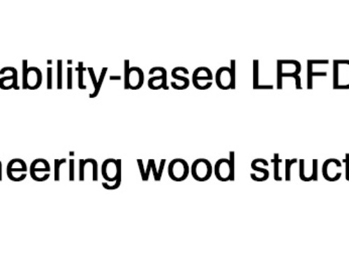 Probability-based LRFD for Engineering Wood Structures