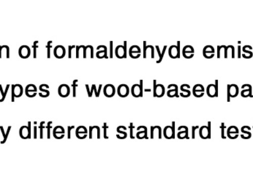 Evaluation of formaldehyde emission from different types of wood-based panels and flooring materials using different standard test methods