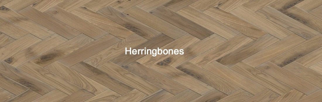 solid herringbones wood floor