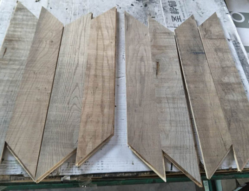 Primitive Chevron Engineered slice cut veneer