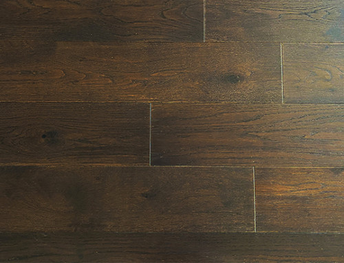Black Tea Color Multilayer Oak Flooring