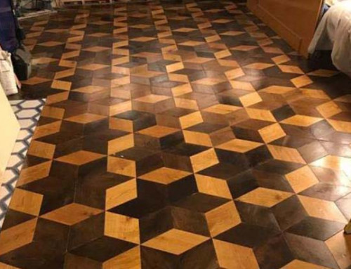Multicolour Rhombus Parquet Oak Engineered Wood Flooring
