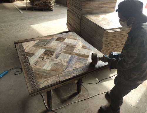 Continue Working On Reclaimed Elm Versailles Order